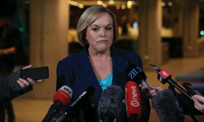 ?? Photograph: Phil Walter/Getty Images ?? National party leader, Judith Collins, trails New Zealand Prime Minister, Jacinda Ardern, in opinion polls.