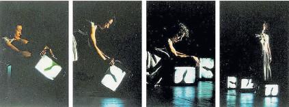 "??  ?? María Teresa Hincapié, Alejandro Restrepo. ""Intempestivas"", 1993-94 .Foto-performance. Set momentum # 1"