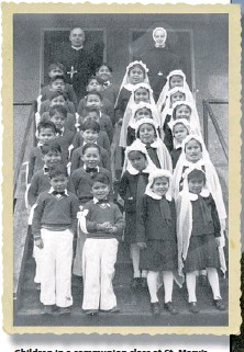 ?? COURTESY OF MISSION COMMUNITY ARCHIVES ?? Children in a communion class at St. Mary's Indian Residential School in Mission, circa 1940.