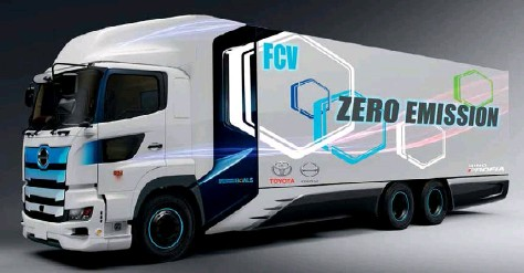 ??  ?? Above: Hino and Toyota agreed to jointly develop a heavy-duty fuel cell truck back in April 2020