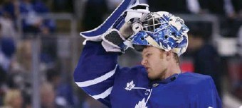 ?? STEVE RUSSELL/TORONTO STAR ?? Frederik Andersen has helped the Leafs, who are 23rd in the league in high-danger chances allowed, to a 14th-place ranking in high-danger goals allowed.
