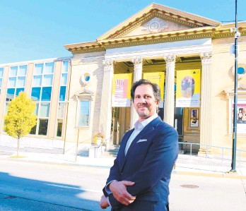 ?? MONICACABRERA/THE MORNING CALL ?? Max Weintraub, the new head of the Allentown Art Museum.