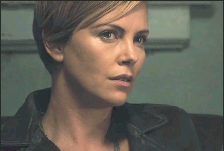 ??  ?? SURVIVOR: Charlize Theron offers up an earnest and downbeat turn that says a lot with little dialogue.