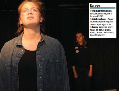 ?? FOTO: LEIF OLDENBURG ?? KÄNSLA. Hannah Gonzalez Spennare i ett laddat ögonblick. I bakgrunden Jennifer Eklund.