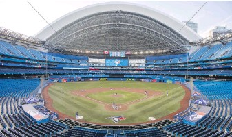 ??  ?? Rogers Centre, formerly known as the SkyDome, opened in 1989 and seats more than 53,000 people.