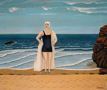 ??  ?? Marine Après le bain, par Dominique Peyronnet, huile sur toile (1931).