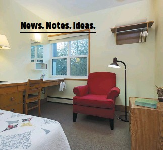 ??  ?? One of the 48 single rooms at Loyola House is now housing new residents.