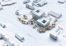 ??  ?? Aus zwei Gebäudeteilen soll das neue Polizeipräsidium in Ravensburg bestehen. Im Vordergrund verläuft die Gartenstraße.
