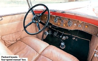 ??  ?? Packard boasts four-speed manual 'box.