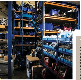 ??  ?? There's an extensive stock of genuine, OEM and used parts on site
