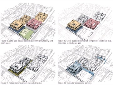 ??  ?? BIG PLANS: Urban designer Azraa Rawoot's impressions of the proposed mixed-use and social housing development on the Tafelberg site. It was included in Ndifuna Ukwazi's submission to the cabinet.