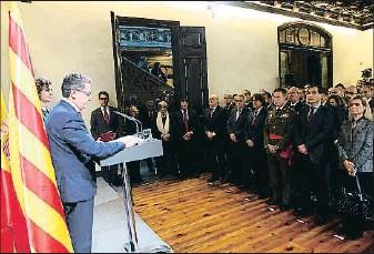 ?? KIM MANRESA ?? Celebración La ministra Dolors Montserrat y el delegado del Gobierno, Enric Millo, fueron los anfitriones del acto para conmemorar el 39.º aniversario de la Constitución, al que no asistieron Iceta, Arrimadas y Albiol