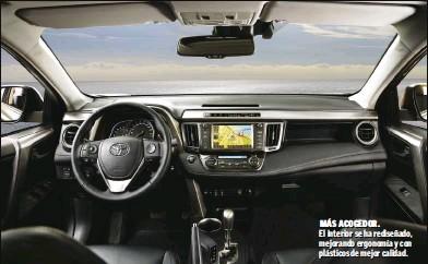 ??  ?? MÁS ACOGEDOR. El interior se ha rediseñado, mejorando ergonomía y con plásticos de mejor calidad.