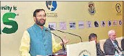 ?? PTI FILE ?? Javadekar distances himself from Suresh Prabhu's comment that India should not align with China on climate issues.
