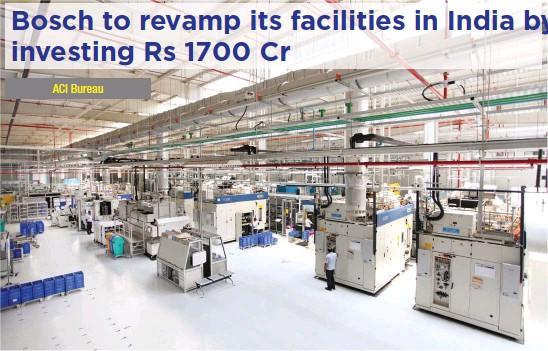 ??  ?? Bosch's Bidadi plant manufactures diesel system products