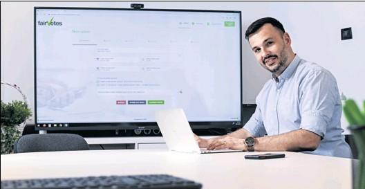 """??  ?? IVAN HENDIJA Direktor i osnivač zagrebačke tvrtke IDE3 koja je pionirski osmislila aplikaciju za e-glasanje """"FairVotes"""""""