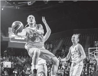 ??  ?? Гра Аліни Ягупової має визначальне значення для результатів збірної України. Фото з сайта ФБУ.