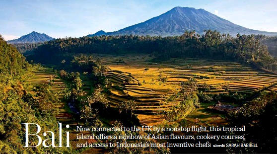 ??  ?? Mount Agung is the backdrop to Bali's foodie experiences