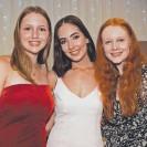 ??  ?? Felicity Bishop, Kaitlyn Hele and Erin McDonald.