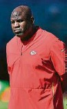 ?? Mark Brown / Getty Images ?? Chiefs offensive coordinator Eric Bieniemy slipped in an interview with the Texans on Monday.