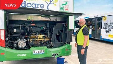 ??  ?? Above: Volgren's Queenslandbased aftersales specialist Brian Weller