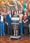 ??  ?? Alejandra Frausto se reunió ayer con secretarios y titulares estatales de cultura.