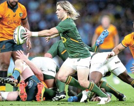 ?? /Chris Hyde/Getty Images ?? Main focus: Faf de Klerk says: 'Our main focus is just to get back on track in this competition … we want to go out there and put up a performance that people can be proud of.'