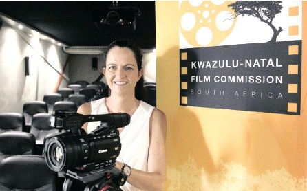 ?? PICTURE: GCINA NDWALANE ?? Carol Coetzee, the chief executive of the KZN Film Commission, in the new 34-seater soundproof cinema.