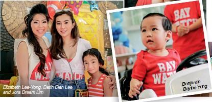 ??  ?? Elizabeth Lee-yong, Datin Dian Lee and Jora Dream Lim Benjamin Baylee Yong