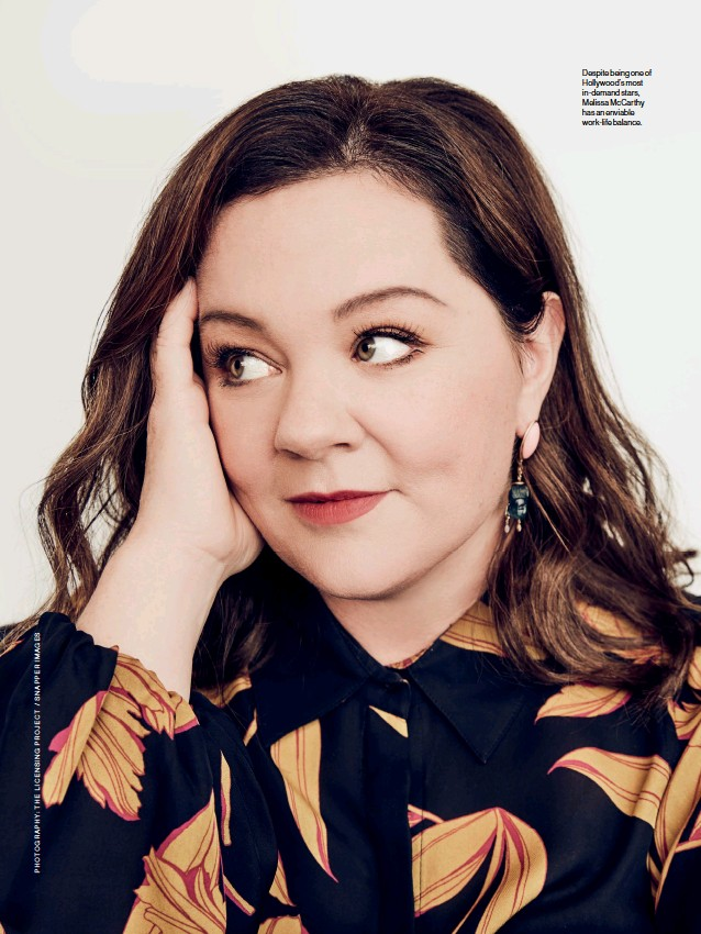 ??  ?? Despite being one of Hollywood's most in-demand stars, Melissa McCarthy has an enviable work-life balance.