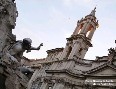 ??  ?? Piazza Navona, la Fuente de los Cuatro Ríos