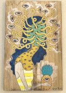 ??  ?? Pinang by Luis Chua, mixed media on wood.