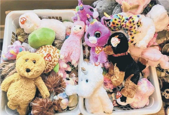 ??  ?? Beanie Babies are highly desirable collectibl­es (photo: Shuttersto­ck/Christophe­r Babcock)