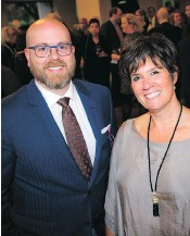 ??  ?? Paul Taylor, Salus board president, and Lisa Ker, executive director of Ottawa Salus.