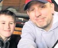 ??  ?? • Ricky Sercombe and son Jake
