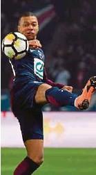 ??  ?? PSG's Kylian Mbappe