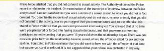 ??  ?? The devastating letter from CICA denying Sammy compensation
