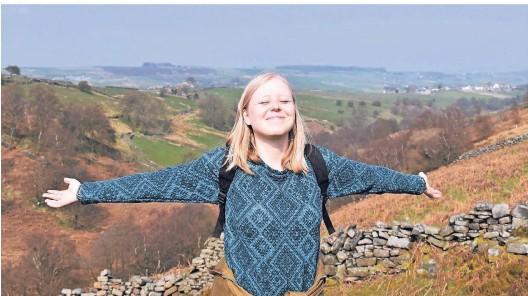 ?? FOTOS: PRIVAT ?? In Yorkshires Mooren hat sie sich sehr wohl gefühlt. Rabea Gruber studiert Literatur- und Kulturwissenschaft.