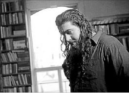 ??  ?? Dark colours: Film-maker Shaun Garea pictured on set.