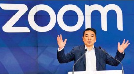 ??  ?? Zoom founder and chief ex­ec­u­tive Eric Yuan