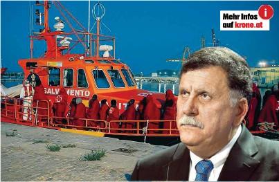 ??  ?? Libyens Regierungschef Al- Sarradsch schließt in einem Interview Asyl- Zentren aus