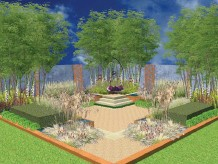 ??  ?? SIT BACK You Talk, I'll Listen, the Samaritans' garden, is a calm, relaxing social space using soft woodlands styling to highlight the powerful effects of simply talking about problems