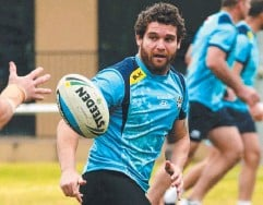 ??  ?? BYE BEAU: Beau Falloon will play his last home game for the Titans on Sunday. Picture: David Clark