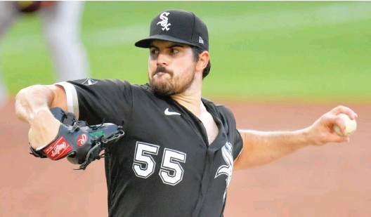 ?? GETTY IMAGES ?? Left-hander Carlos Rodon was re-signed by the White Sox after being non-tendered in December. He will compete for a spot at the back end of the rotation.
