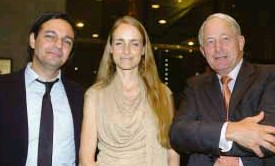 ??  ?? DUTCH Ambassador Robert Brinks (right) with two guests