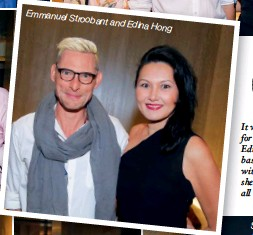 ??  ?? It wwas a homecoming for Malaysian Ediedina, who is now basbased in Singapore witwith her husband, as she caught up with all of her old friends Emmanuel Stroobant and Edina Hong
