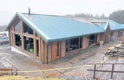 ??  ?? AFTERMATH: The Glencoe Mountain Resort's base station and cafe following the fire at the tourist attraction, which hit on Christmas Day
