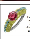 ??  ?? Holika bracelet in white gold with chrysobery­ls, diamonds, rubellite and tourmaline­s