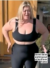 ??  ?? Gem's been working out at her Essex home