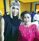 ??  ?? A fan of comedian Vice Ganda, it was one of Mother Lily Monteverde's wishes to have the star at her party